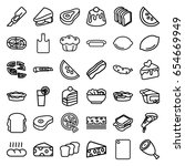 slice icons set. set of 36... | Shutterstock .eps vector #654669949