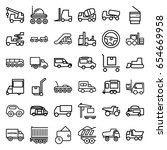 truck icons set. set of 36... | Shutterstock .eps vector #654669958