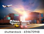 logistics and transportation of ... | Shutterstock . vector #654670948