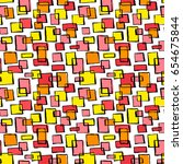 seamless textile doodle pattern ... | Shutterstock .eps vector #654675844