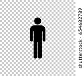 man icon isolated on... | Shutterstock .eps vector #654682789