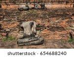 old buddha statue at thai