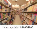 blurred image of book store for ... | Shutterstock . vector #654688468