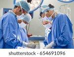 portrait of team of multiethnic ... | Shutterstock . vector #654691096