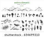 hand drawn grafic set with... | Shutterstock .eps vector #654699310