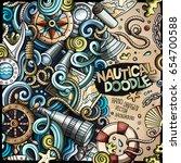 cartoon cute doodles hand drawn ... | Shutterstock .eps vector #654700588
