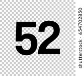 number fifty two  52 isolated... | Shutterstock .eps vector #654702850
