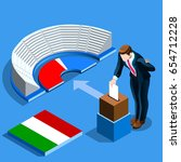 italy election voting concept... | Shutterstock .eps vector #654712228