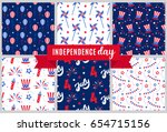 independence day of america... | Shutterstock .eps vector #654715156