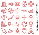 arrow icons set. set of 25... | Shutterstock .eps vector #654716233