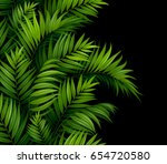 tropical palm green leaves ... | Shutterstock .eps vector #654720580