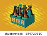 beer packaging. alcoholic... | Shutterstock .eps vector #654720910