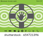 lifebuoy with hand  icon ... | Shutterstock .eps vector #654721396