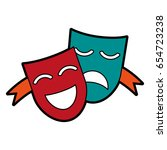 theater masks concept icon... | Shutterstock .eps vector #654723238