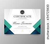 certificate premium template... | Shutterstock .eps vector #654725830