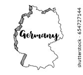 hand drawn  of germany map ... | Shutterstock .eps vector #654727144
