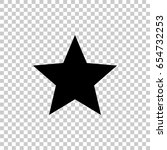 star icon isolated on... | Shutterstock .eps vector #654732253
