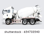 A Concrete Mixer Delivery Truc...