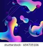 plastic colorful shapes.... | Shutterstock .eps vector #654735106