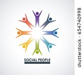 social people group | Shutterstock .eps vector #654740998