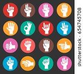 hands gestures in round...