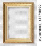 golden wooden frame isolated on ... | Shutterstock . vector #654748930