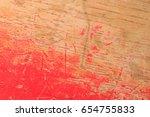 old wood floor red | Shutterstock . vector #654755833