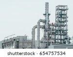 industrial zone the equipment... | Shutterstock . vector #654757534