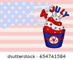 vector greeting card. happy... | Shutterstock .eps vector #654761584