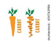 carrot design logo | Shutterstock .eps vector #654763984