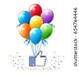 popular stories in social media....   Shutterstock .eps vector #654764446