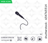 microphone web icon  flat design | Shutterstock .eps vector #654765514