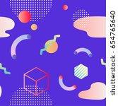trendy neo memphis background. | Shutterstock . vector #654765640