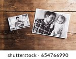 pictures of father and baby ... | Shutterstock . vector #654766990