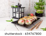 Hot Fried Sushi Roll With...