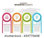 modern infographic options... | Shutterstock .eps vector #654770608