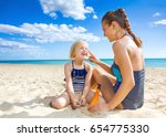 sun kissed beauty. smiling... | Shutterstock . vector #654775330
