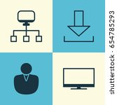 connection icons set.... | Shutterstock .eps vector #654785293