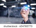 business  technology  internet... | Shutterstock . vector #654785773