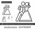 wedding dance vector line icon... | Shutterstock .eps vector #654785809