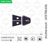 vector usb flash drive icon | Shutterstock .eps vector #654786106