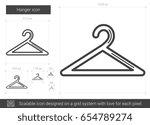 hanger vector line icon... | Shutterstock .eps vector #654789274