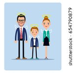 ideal family icon. father ... | Shutterstock .eps vector #654790879