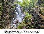 Flume Gorge Waterfall, White Mountains, USA