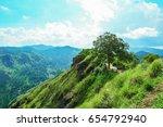 view from little adam's peak.... | Shutterstock . vector #654792940