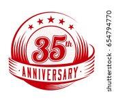 35 years anniversary design... | Shutterstock .eps vector #654794770
