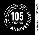105 years anniversary logo... | Shutterstock .eps vector #654794830
