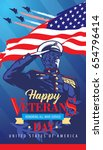 Happy Veterans Day. Poster. Th...