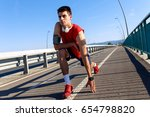 portrait of young athlete man... | Shutterstock . vector #654798820