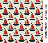 maritime mood  seamless... | Shutterstock .eps vector #654801658